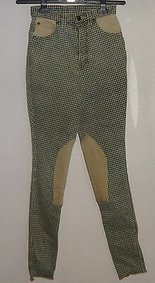 Hac Tac Jodhpurs Green Tweedy Check Stretchy Size 10 Great Condition