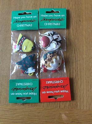 4 Hanging Ornaments, Assorted Designs. Handmade In South Africa.