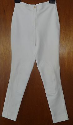 Saddlemaster White Stretch Riding Breeches Jodhpurs Size 10 Good Condition