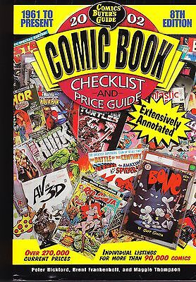Comic Book Checklist & Price Guide, 8th Edition, 2002, Excellent Condition