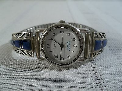 Calvin Begay Sterling Silver with Lapis Lazuli Inlaid Tips with a Legacy Watch