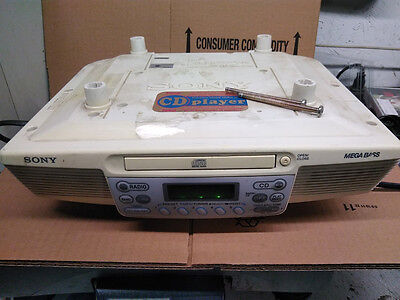 Sony  Under Cabinet AM/FM Clock Radio with CD Player ICF-CD533