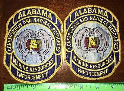 Lot Of 2 Alabama Conservation Natural Marine Resources Enforcement Patches