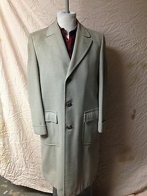 Vtg Mens Royal Velour Grey Wool Coat 1940's 1950's 3 Buttons UNION MADE