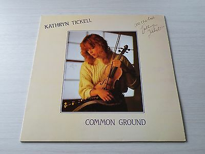 Kathryn Tickell Common Ground Lp Uk Black Crow 1988 First Press Signed Copy