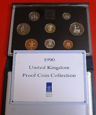 1990 Eight Coin Proof Set + Blue Box And Coa