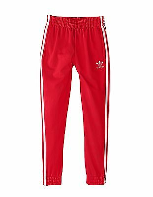 Adidas Originals Boys' SUPERSTAR FITTED Track Pants Tomato Red/White AC0031 a