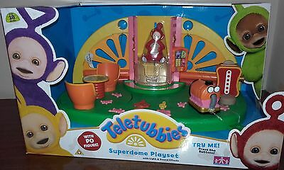 NEW Teletubbies Superdome Playset & Po Figure Childrens Toy Christmas Gift