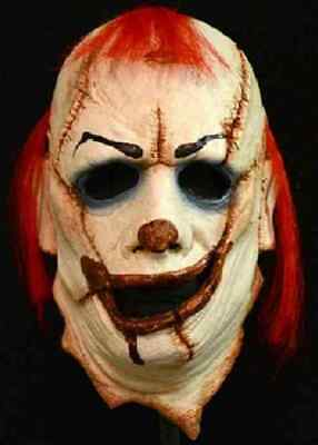 Clown Skinner Mask Killer Scary Fancy Dress Up Halloween Adult Costume Accessory