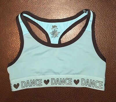 Lot 2  girls sports bra sz 28 activewear sports Dance youth top Justice clothing