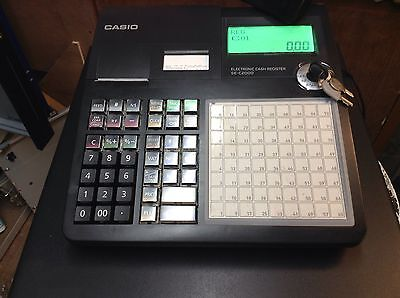 Casio Se-C2000 Electronic Cash Register Very Easy To Use