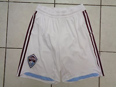 Adidas Colorado Rapids Home Shorts Size Small White US MLS Rare