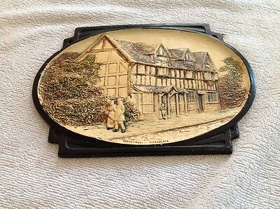 Bretby Pottery Plaque - Shakespeare's Birthplace