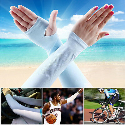 Soft Bicycle UV Sun Protection Outdoor Sports Ice Cooling Arm Cuff Sleeve Cover
