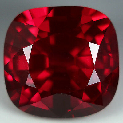 11.70cts. AWESOME AAA BLOOD RED RUBY CUSHION LOOSE GEMSTONE