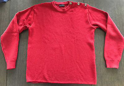 Pull marin HOMME Tricomer rouge 100% laine vierge XL
