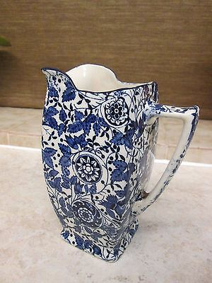 Antique Early Royal Doulton Blue and White Milk Jug 1901-1922