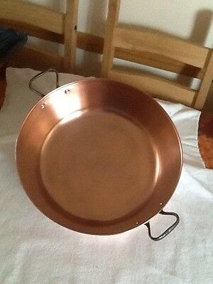 Large Antique Victorian Copper Jam Pan With Handles, Possibly French