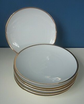 "Lovely Thomas Rosenthal Germany ""medaillon Gold"" Set Of 6 Side Plates - 7"", Vgc"