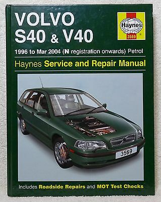 Volvo S40 & V40 Haynes Manual, 96-04, Petrol. HB Never Used. Excellent Condition