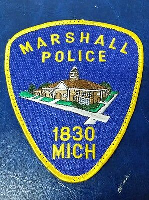Marshall, Michigan Police Department Shoulder Patch Mi