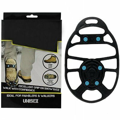 New Snow Anti Slip Ice Gripper For Boots Or Shoes Grips Small Medium Large Xl Uk