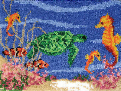 "Mcg Textiles #37663 Under The Sea 27 X 20"" Made In Usa100% Acrylic Yrn Latch Nib"