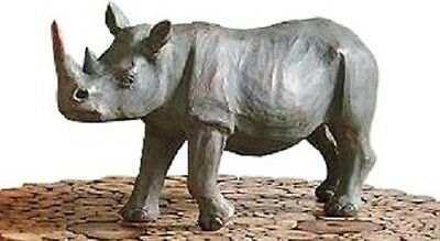 Grandinroad Rhino African Plains Wildlife Safari Sculpture Statue ~ NIB