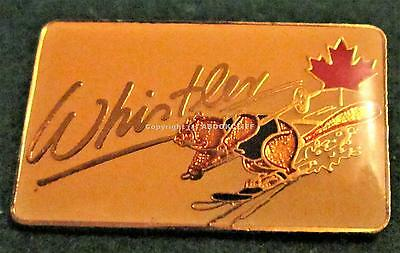 WHISTLER B.C. DOWNHILL BEAVER SKIIER Pin