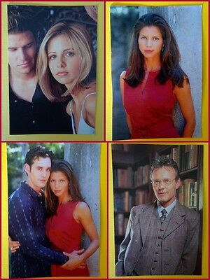 Buffy The Vampire Slayer - 4 coloured promotional postcards