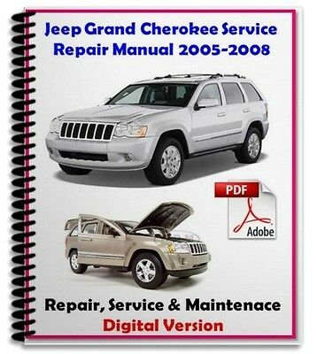 Jeep Grand Cherokee WJ 2005 2006 2007 2008 Pdf Manual Service Repair Maintenace