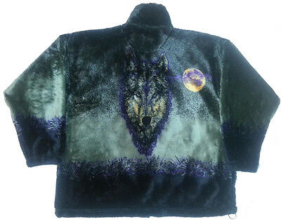 Phantom Wolf Plush Fleece Jacket New (Xs - 2x)
