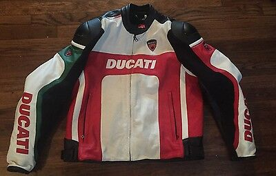 Ducati Corse Armored Mens Size 56 Motorcycle Jacket RN 120386