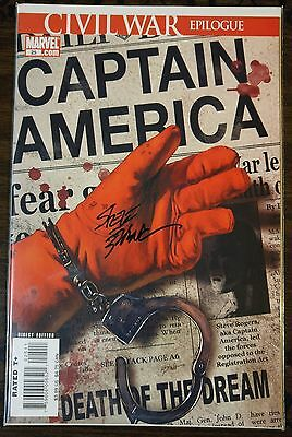 Captain America #25 (Death Of Captain America)!! **signed By: Steve Epting**