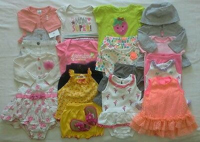 Baby Girls Newborn 0/3 months Spring Summer Clothes Outfits Clothing Lot!