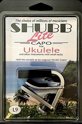 """""""Best Choice"""" SHUBB L9 LITE CAPO For UKULELE IN ALUMINUM SILVER LIGHT WEIGHT"""