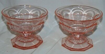 """2 Indiana TEA ROOM PINK *3"""" LOW FOOTED SHERBETS*"""