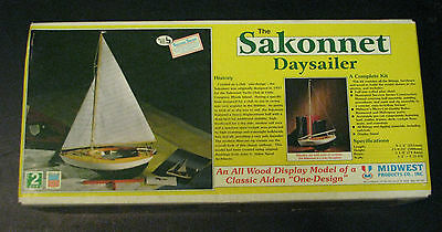 The Sakonnet Daysailer by Midwest Productions Co. Wood Model Kit