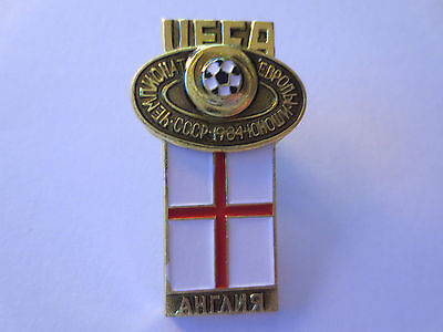 England 1984 UEFA European Under-18 Championship in Soviet Union Pin Badge