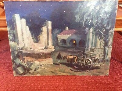 Vintage Signed Oil Painting Melchior? 1975