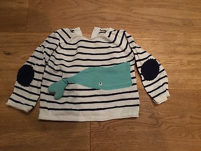 Next baby boy whale knitted jumper 6-9 months RRP:£14