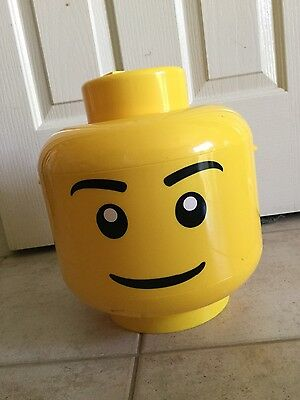 Lego Sort Store Sorter Large Yellow Storage Head Bin w/ Grids CASE RETIRED
