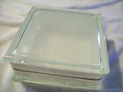 """Vintage Architectural Glass Building Block 7-3/4""""Square X 3"""" Thick  Crafts"""