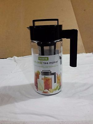 Takeya Flash Chill® Iced Tea Maker (1 Quart, Black) with label