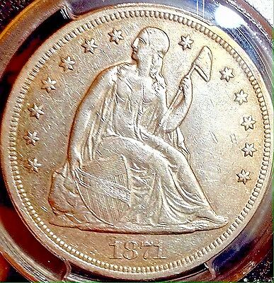 1871 Liberty Seated Dollar..PCGS XF(cln)..Beauty! Sale 35% Off Bk $575!