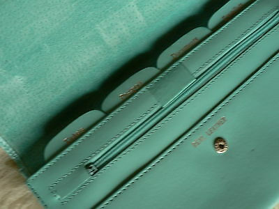 Turquoise Leather Travellers Passport Wallet