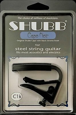 Shubb C1k Capo Steel String Guitar - Black CAPO NOIR - Acoustic & Electrics