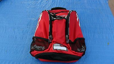 NEW NO ERRORS - Scout  Backpack (Back Pack) Baseball or Softball Bat Bag RED