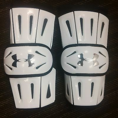 UNDER ARMOUR Revenant Arm Pads - Box - White - Large - NEW