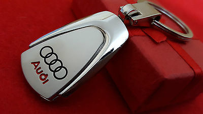 AUDI Car Logo A1, A3, A4, A5, A6, Q3 Metal Keyring with Free Pouch (S2)